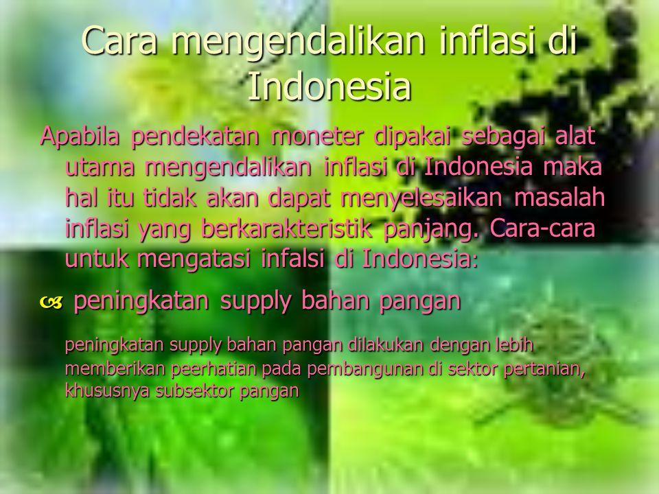 Cara mengendalikan inflasi di Indonesia