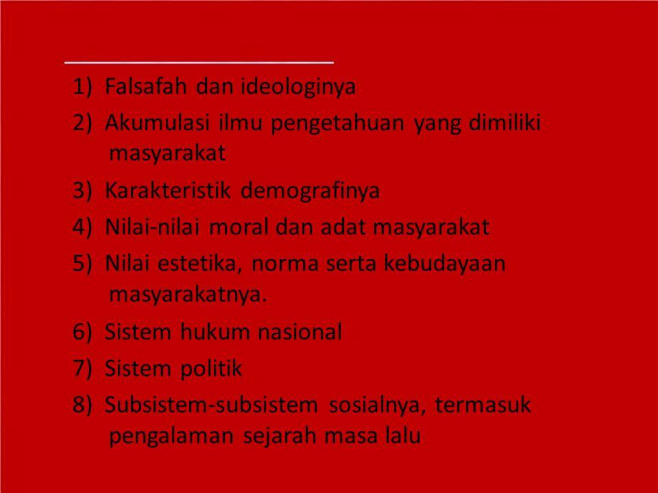 1) Falsafah dan ideologinya