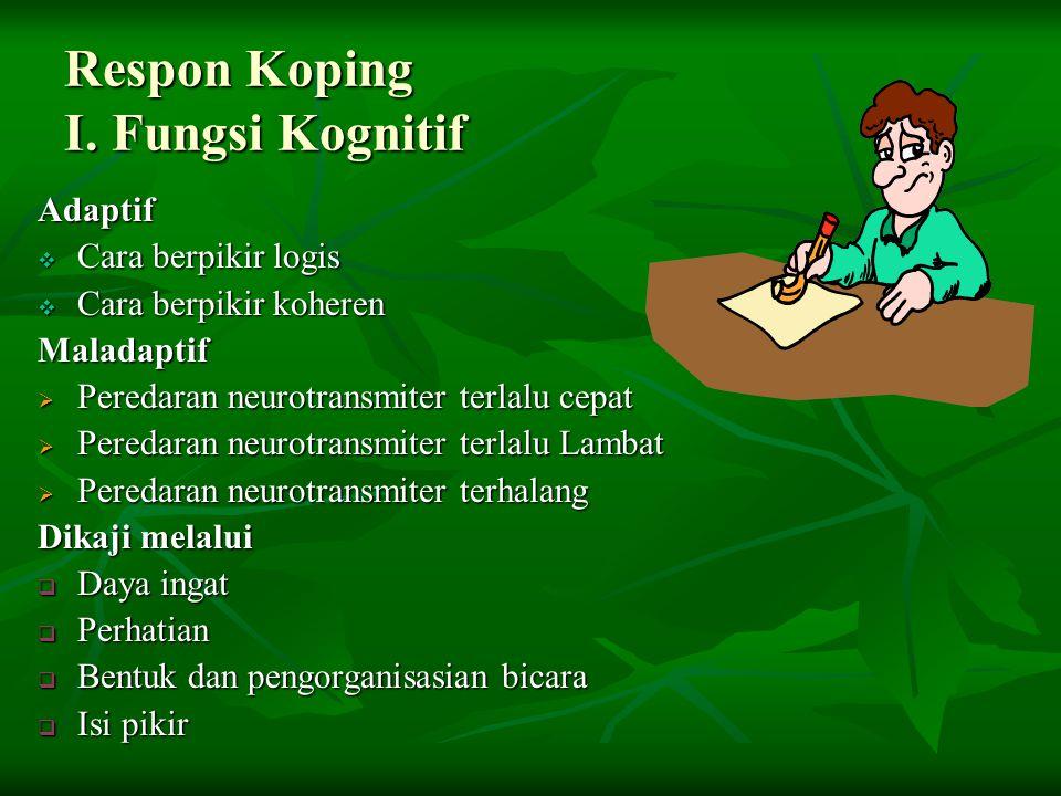 Respon Koping I. Fungsi Kognitif