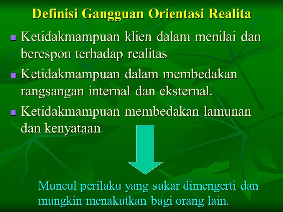 Definisi Gangguan Orientasi Realita