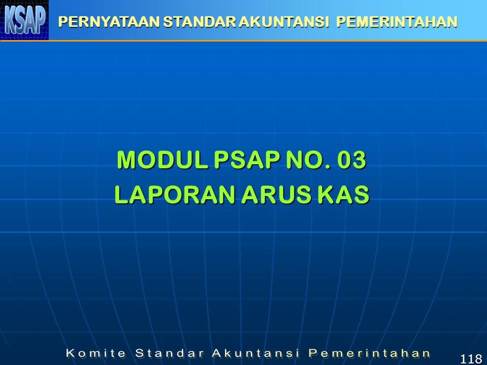 MODUL PSAP NO. 03 LAPORAN ARUS KAS