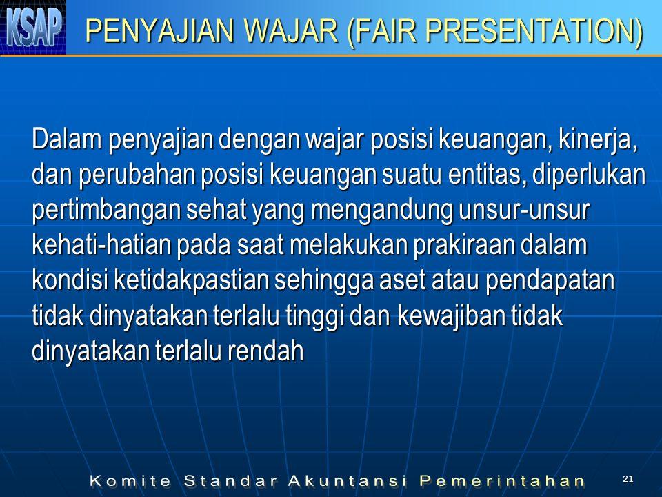 PENYAJIAN WAJAR (FAIR PRESENTATION)