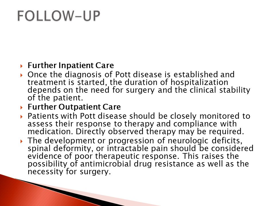 FOLLOW-UP Further Inpatient Care
