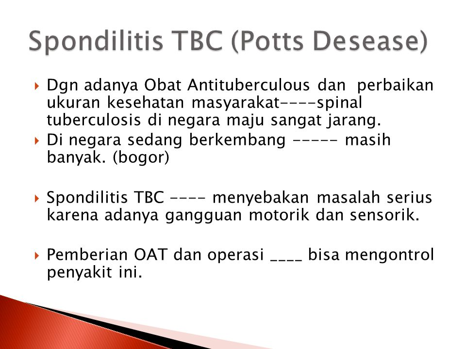 Spondilitis TBC (Potts Desease)