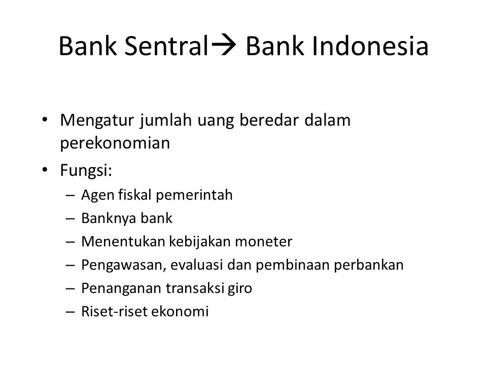 Bank Sentral Bank Indonesia