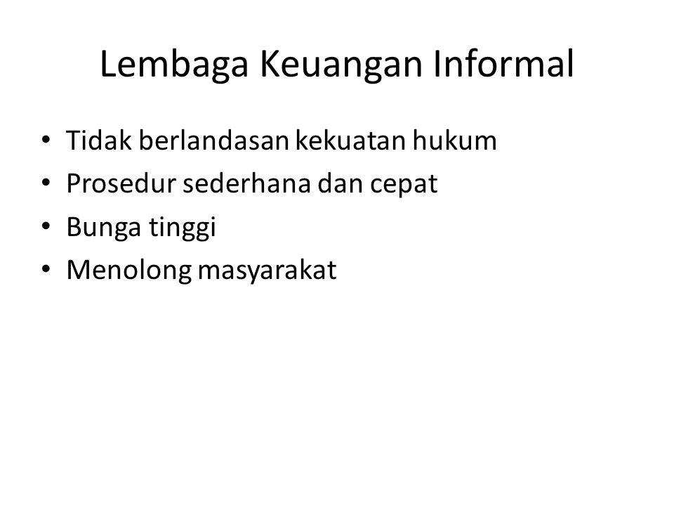 Lembaga Keuangan Informal