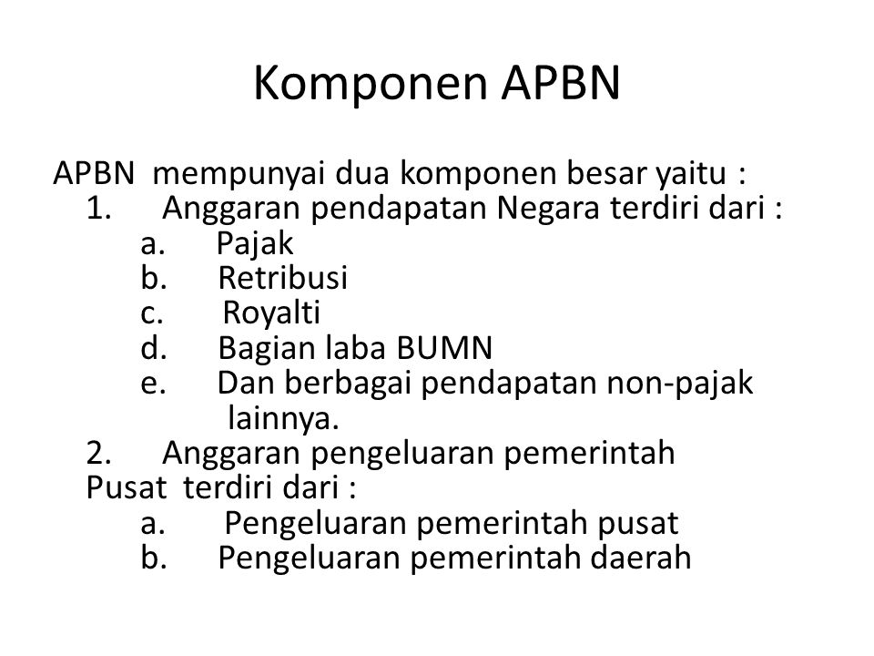 Komponen APBN