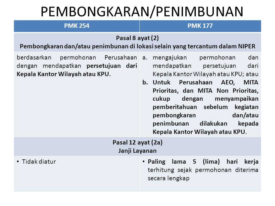 PEMBONGKARAN/PENIMBUNAN