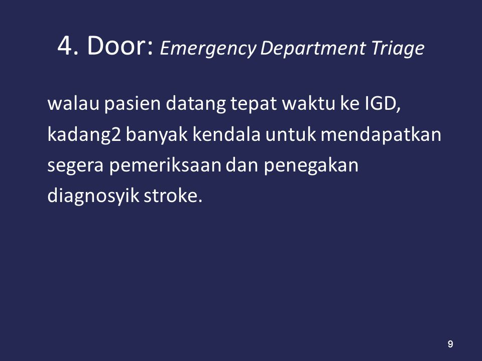 4. Door: Emergency Department Triage