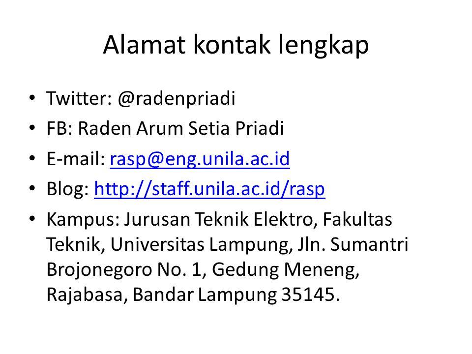 Alamat kontak lengkap Twitter: @radenpriadi