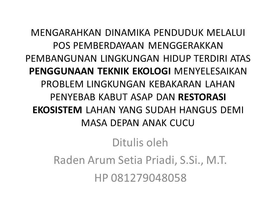 Ditulis oleh Raden Arum Setia Priadi, S.Si., M.T. HP 081279048058