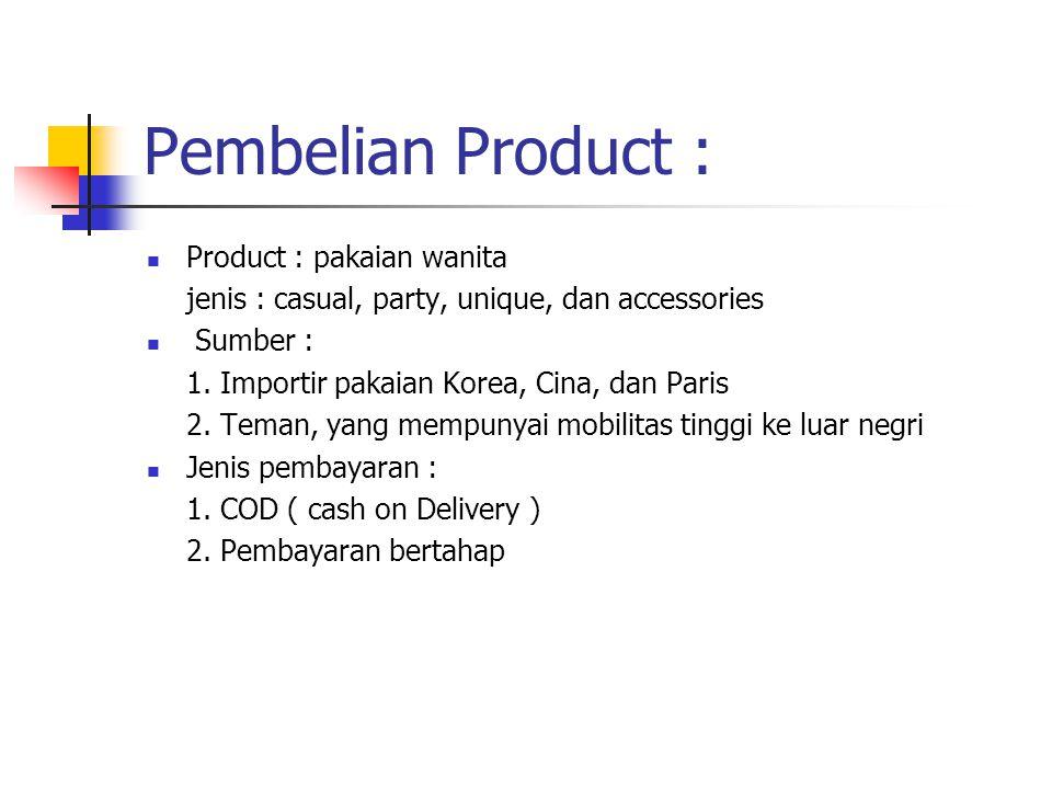 Pembelian Product : Product : pakaian wanita