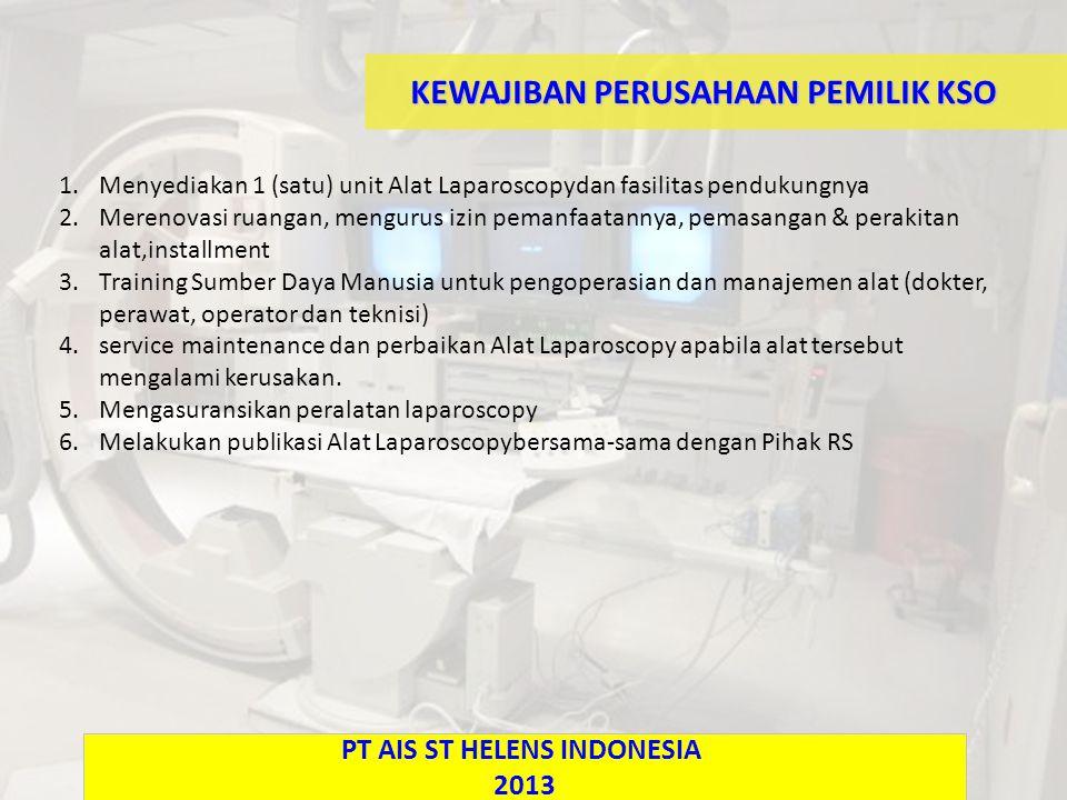 KEWAJIBAN PERUSAHAAN PEMILIK KSO PT AIS ST HELENS INDONESIA