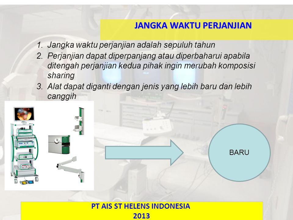 JANGKA WAKTU PERJANJIAN PT AIS ST HELENS INDONESIA