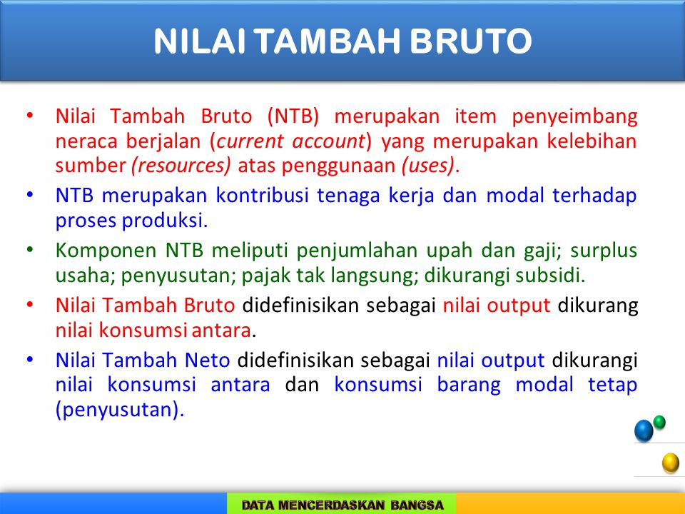 NILAI TAMBAH BRUTO