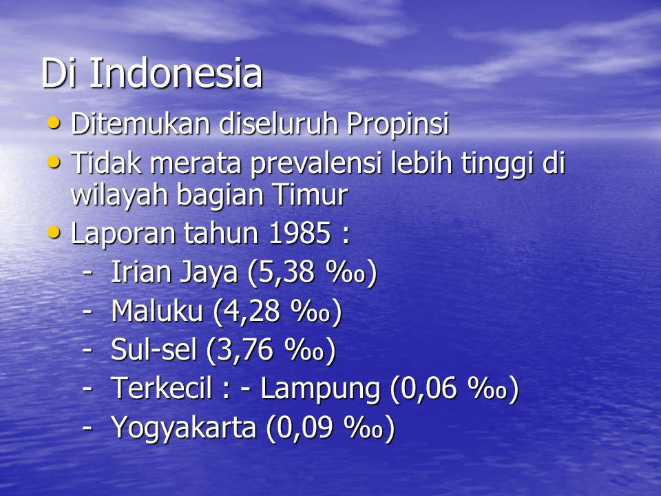 Di Indonesia Ditemukan diseluruh Propinsi