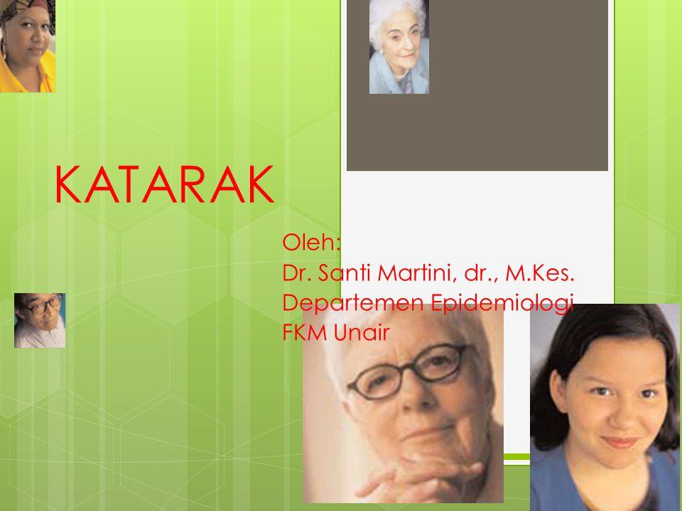Oleh: Dr. Santi Martini, dr., M.Kes. Departemen Epidemiologi FKM Unair