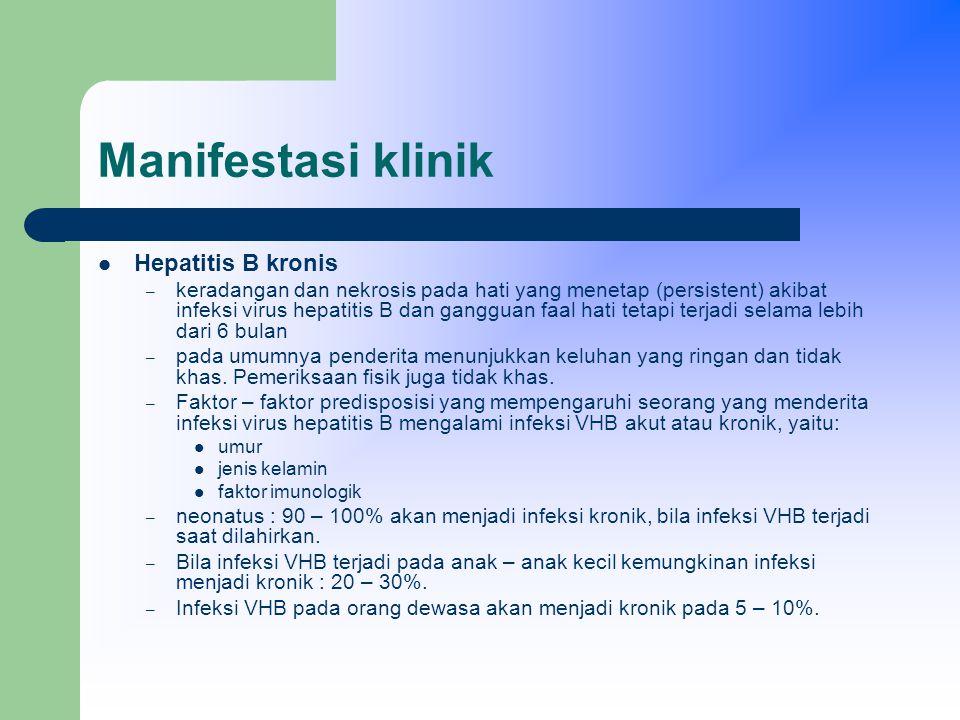Manifestasi klinik Hepatitis B kronis