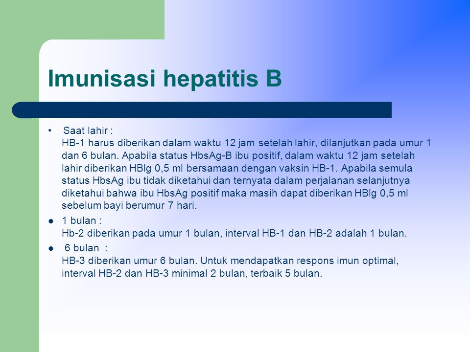 Imunisasi hepatitis B