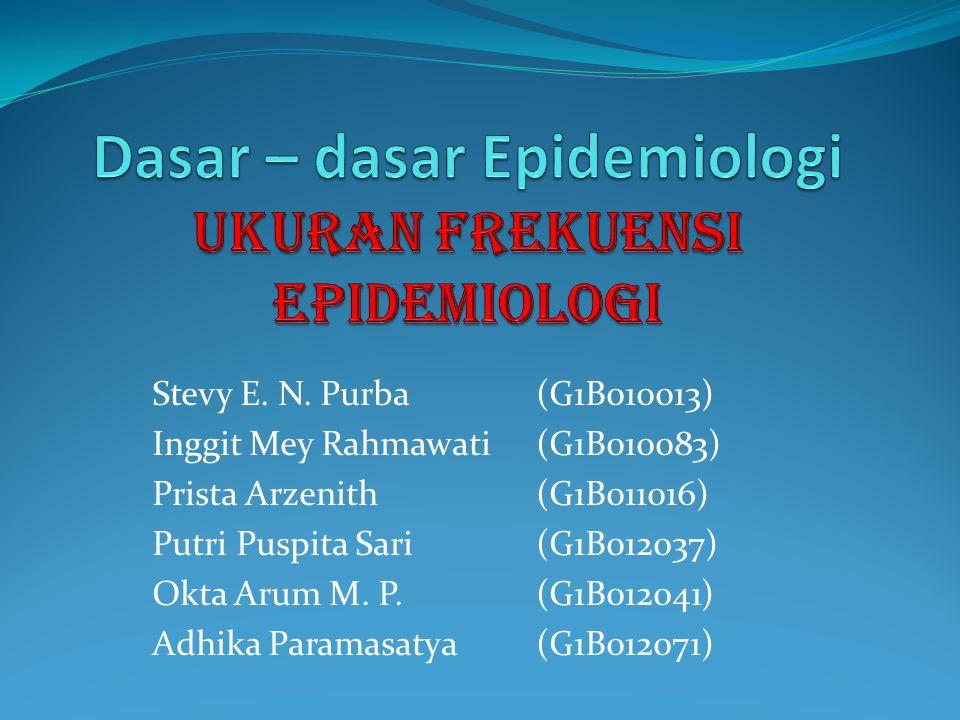 Dasar – dasar Epidemiologi Ukuran Frekuensi Epidemiologi