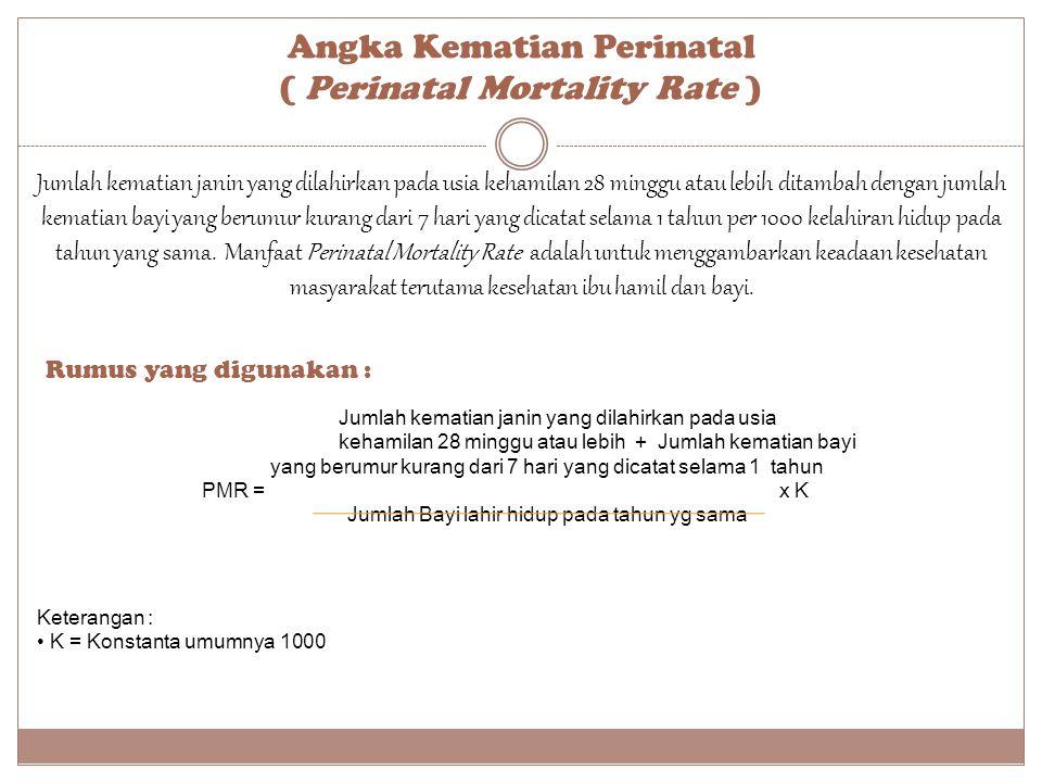 Angka Kematian Perinatal ( Perinatal Mortality Rate )
