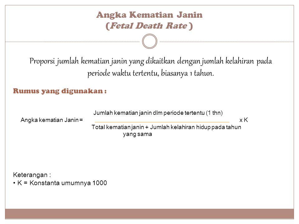 Angka Kematian Janin (Fetal Death Rate )
