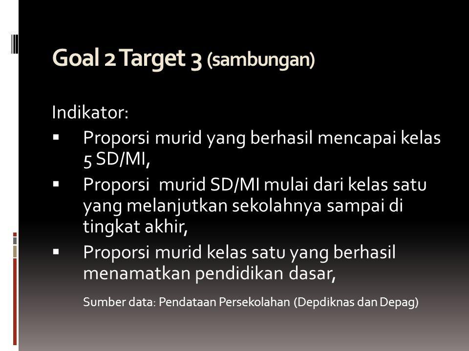 Goal 2 Target 3 (sambungan)