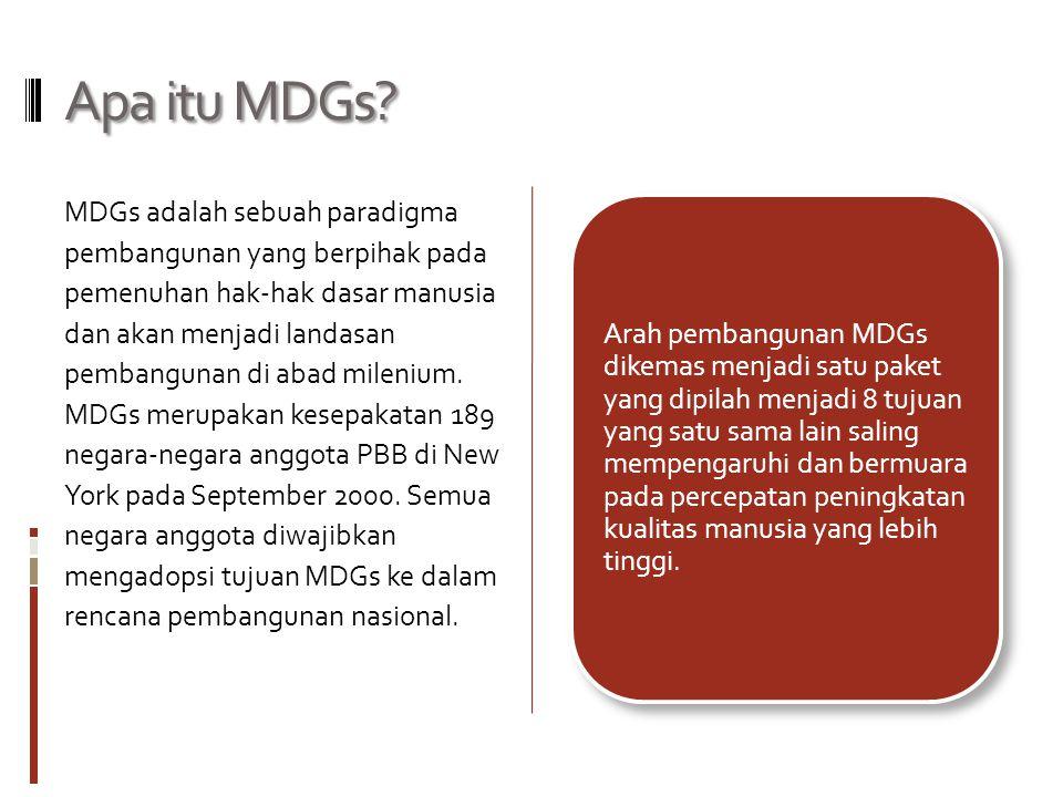 Apa itu MDGs