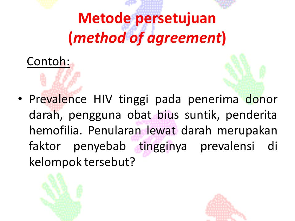 Metode persetujuan (method of agreement)