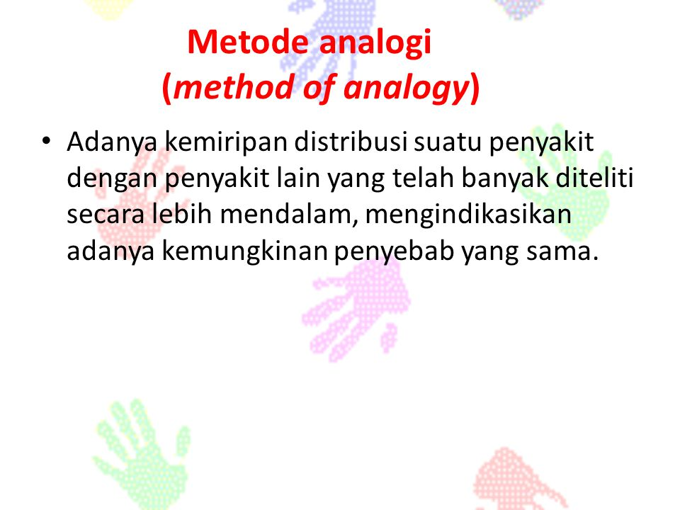 Metode analogi (method of analogy)