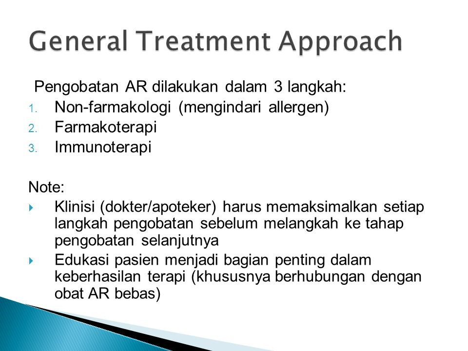 General Treatment Approach