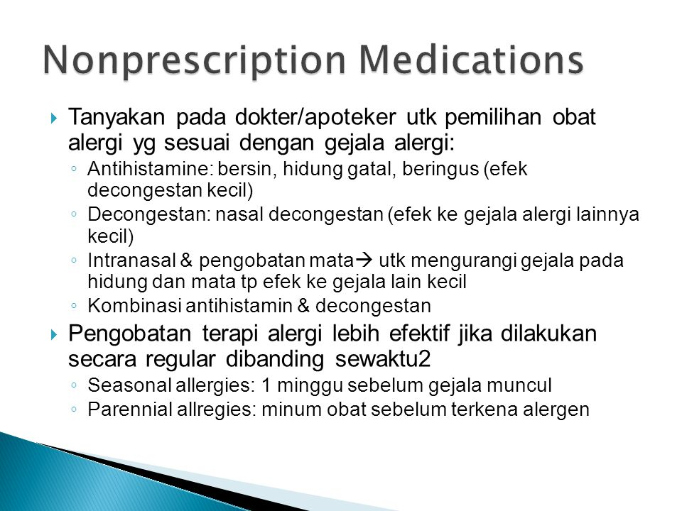 Nonprescription Medications