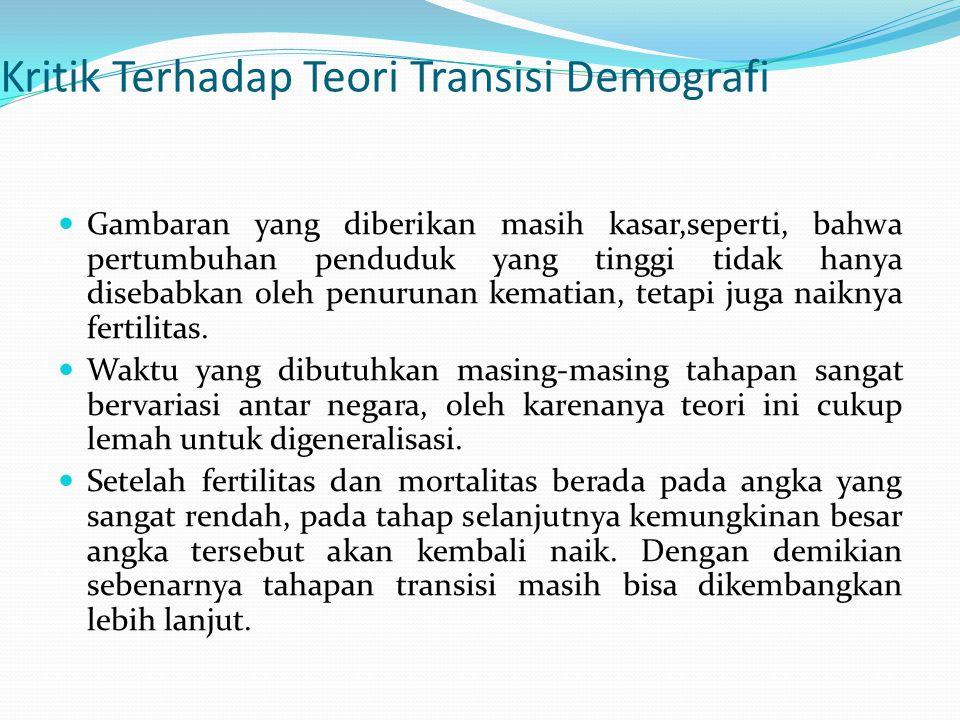 Kritik Terhadap Teori Transisi Demografi