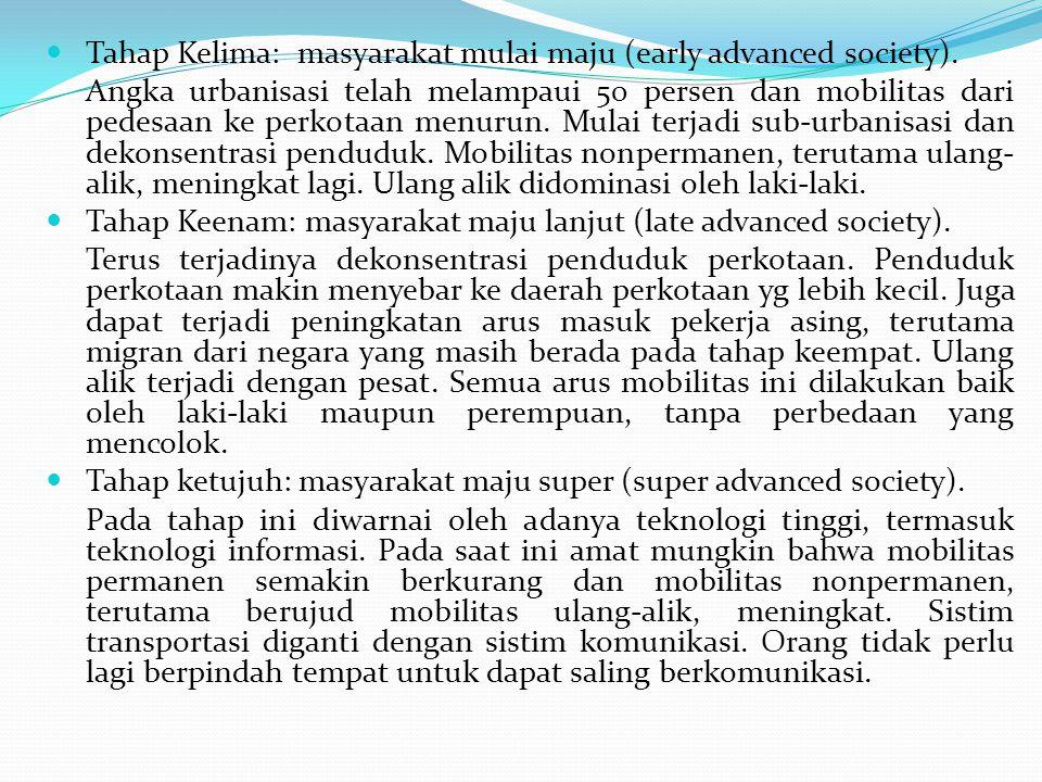 Tahap Kelima: masyarakat mulai maju (early advanced society).