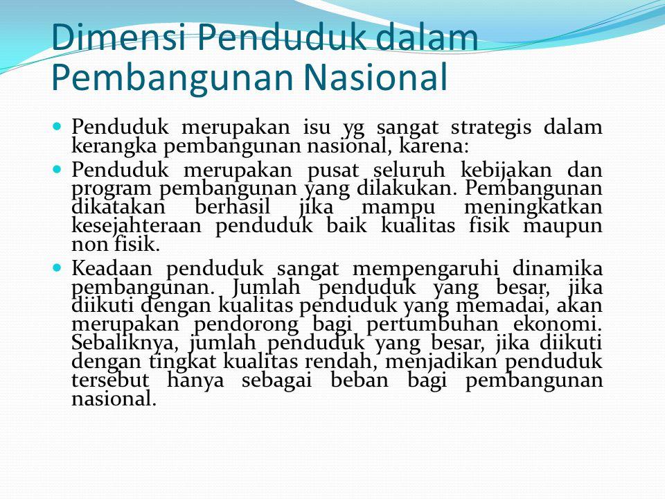 Dimensi Penduduk dalam Pembangunan Nasional