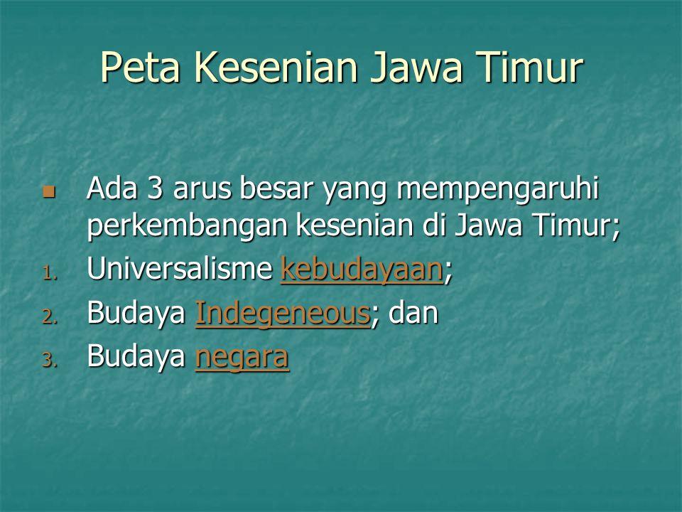 Peta Kesenian Jawa Timur