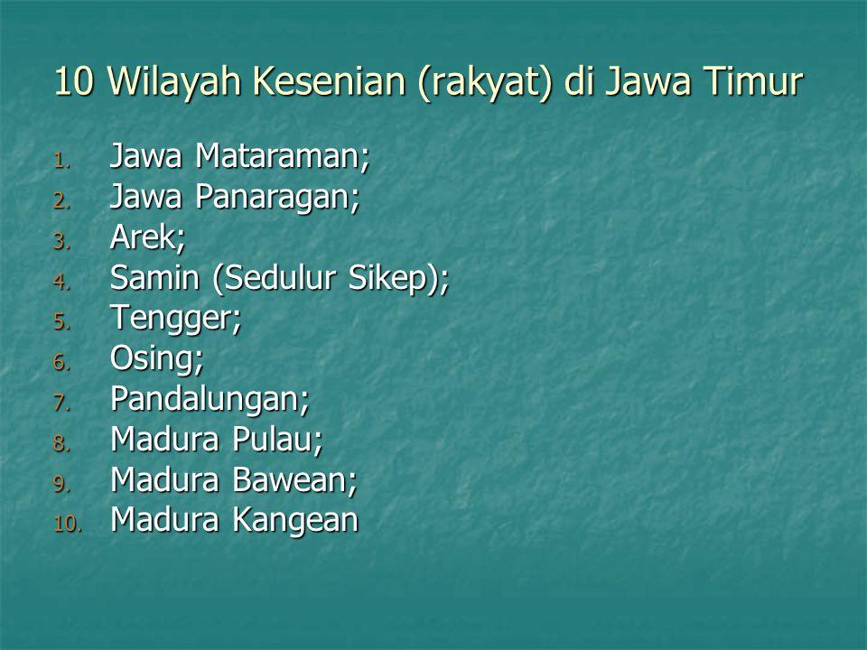 10 Wilayah Kesenian (rakyat) di Jawa Timur