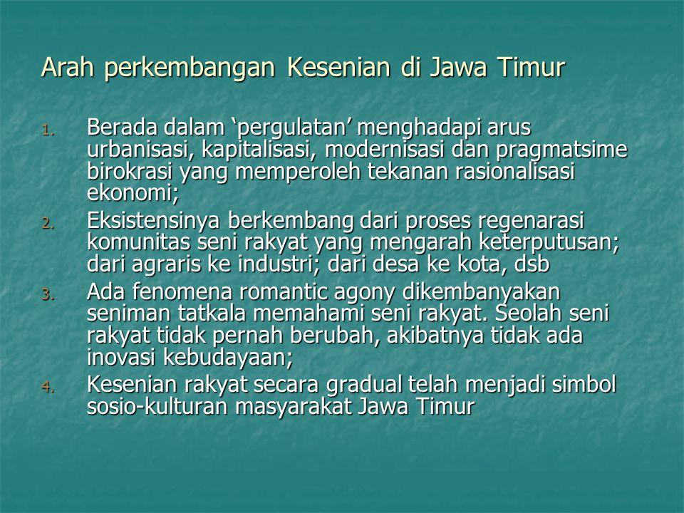 Arah perkembangan Kesenian di Jawa Timur