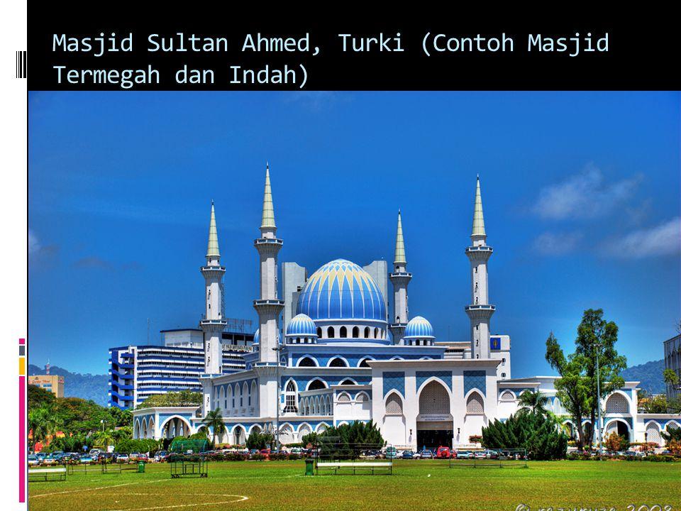 Masjid Sultan Ahmed, Turki (Contoh Masjid Termegah dan Indah)