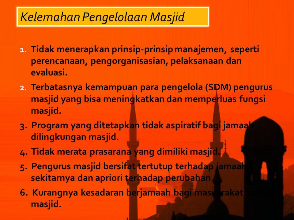 Kelemahan Pengelolaan Masjid