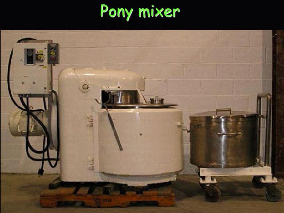 Pony mixer