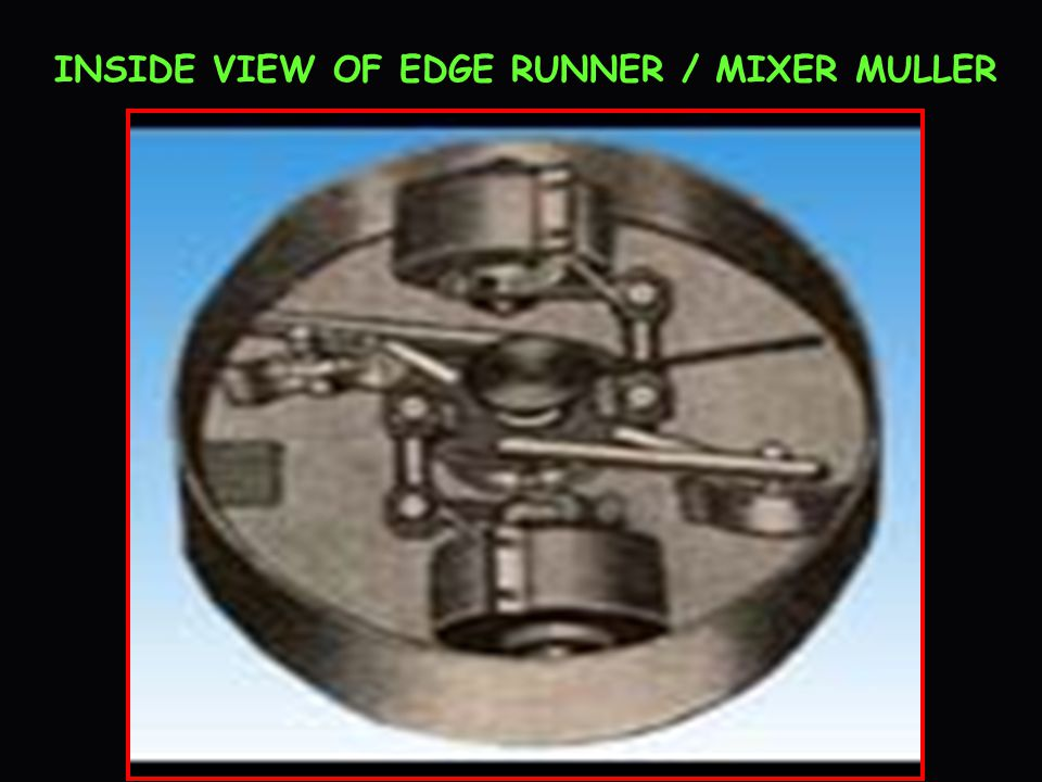 INSIDE VIEW OF EDGE RUNNER / MIXER MULLER
