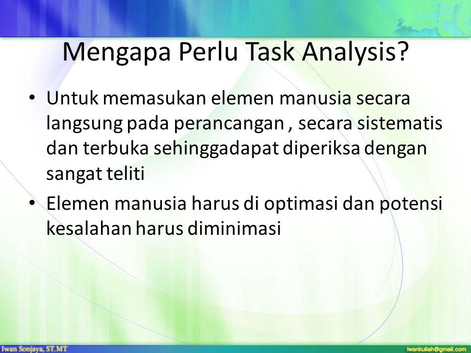 Mengapa Perlu Task Analysis