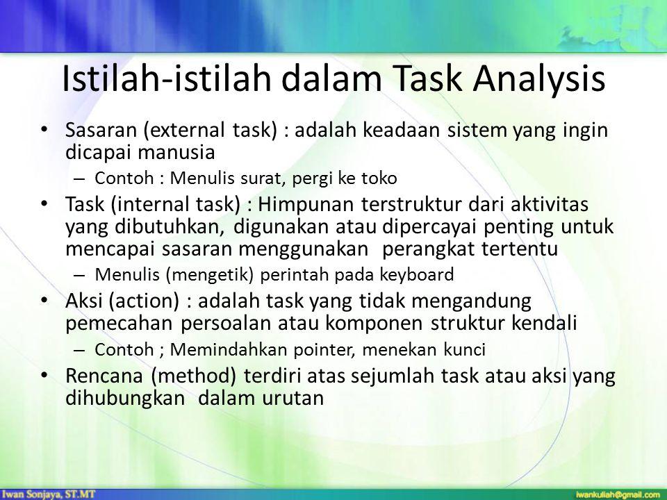 Istilah-istilah dalam Task Analysis