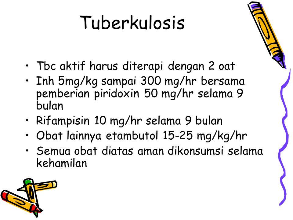 Tuberkulosis Tbc aktif harus diterapi dengan 2 oat