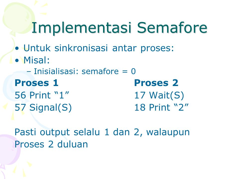 Implementasi Semafore