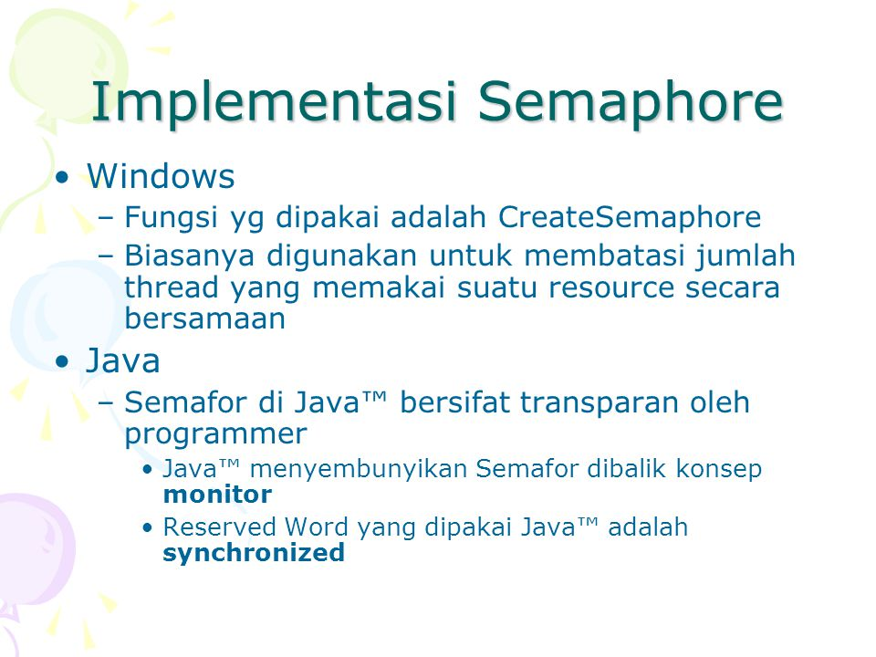 Implementasi Semaphore