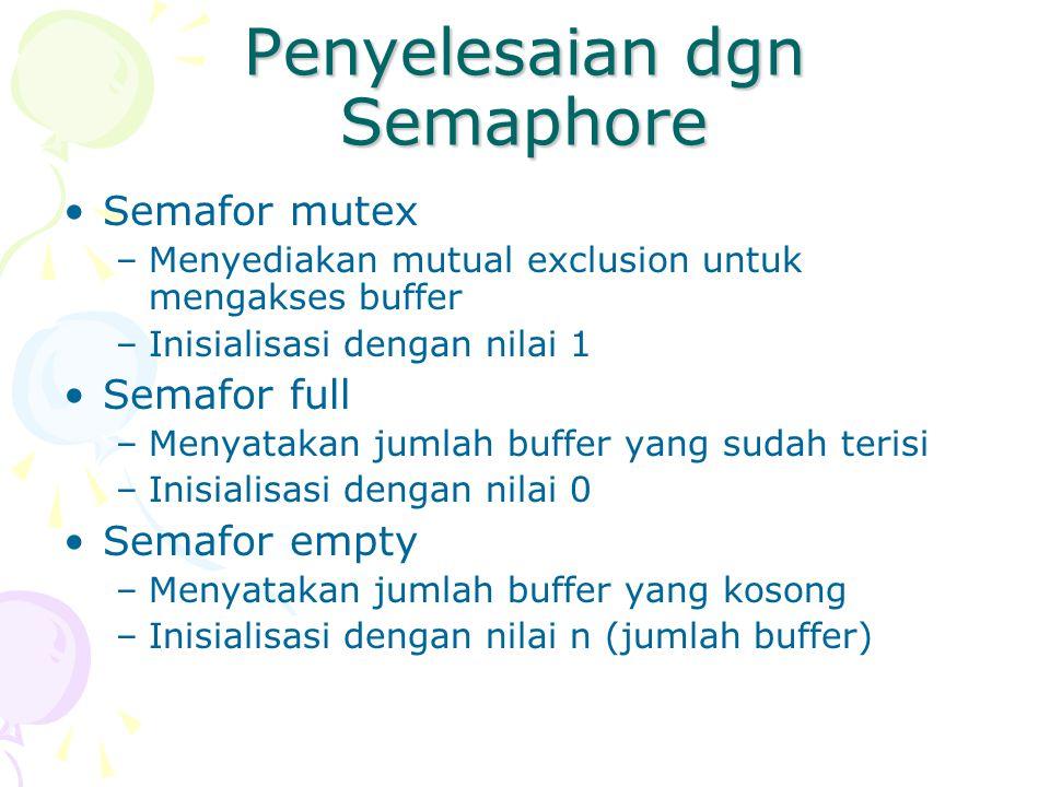 Penyelesaian dgn Semaphore