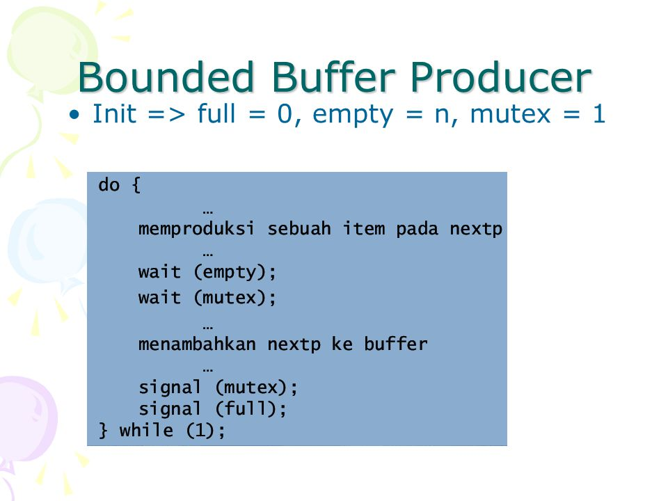 Bounded Buffer Producer