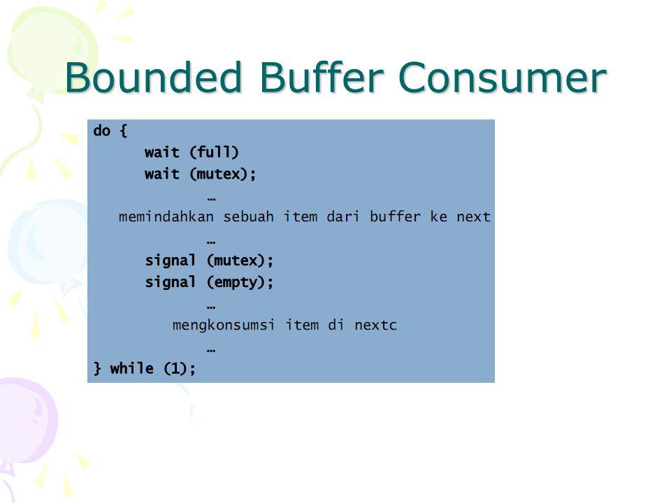 Bounded Buffer Consumer